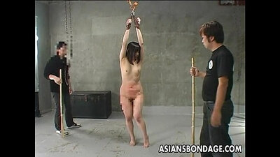 Asian slut ass spanked and fucked rough by patrol